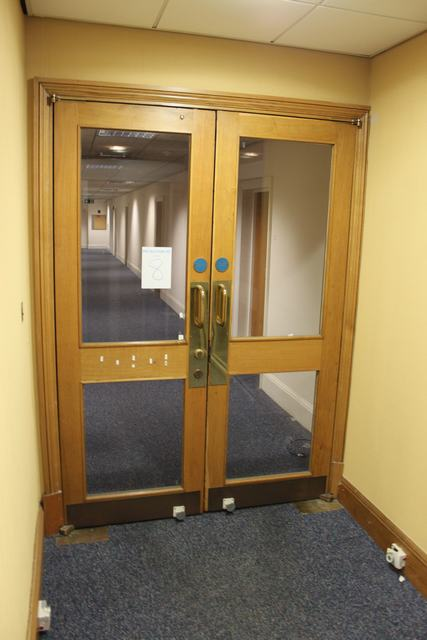 Auction ID 10369 Lot Number 8 Fire Rated Door With Glass Panel 800mm X 2