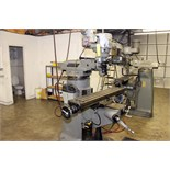 "VERTICAL TURRET MILL, BRIDGEPORT SERIES 1, 9"" x 48"" table, pwr. feed, chrome ways, 2-axis D.R.O.,"
