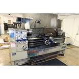 "GAP BED ENGINE LATHE, SHARP 18"" X 60"" MDL. 1860C, spds: 20-2000 RPM, taper attach., 2-axis D.R.O.,"