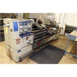 "GAP BED ENGINE LATHE, SHARP 22"" X 80"" MDL. 2280X, spds: 15-1500 RPM, inch/metric thdng., taper"