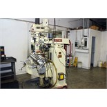 "VERTICAL TURRET MILL, ACER ULTIMA MDL. 3VRH, 10"" x 50"" table, hardened & ground ways, 2-axis D.R.O.,"