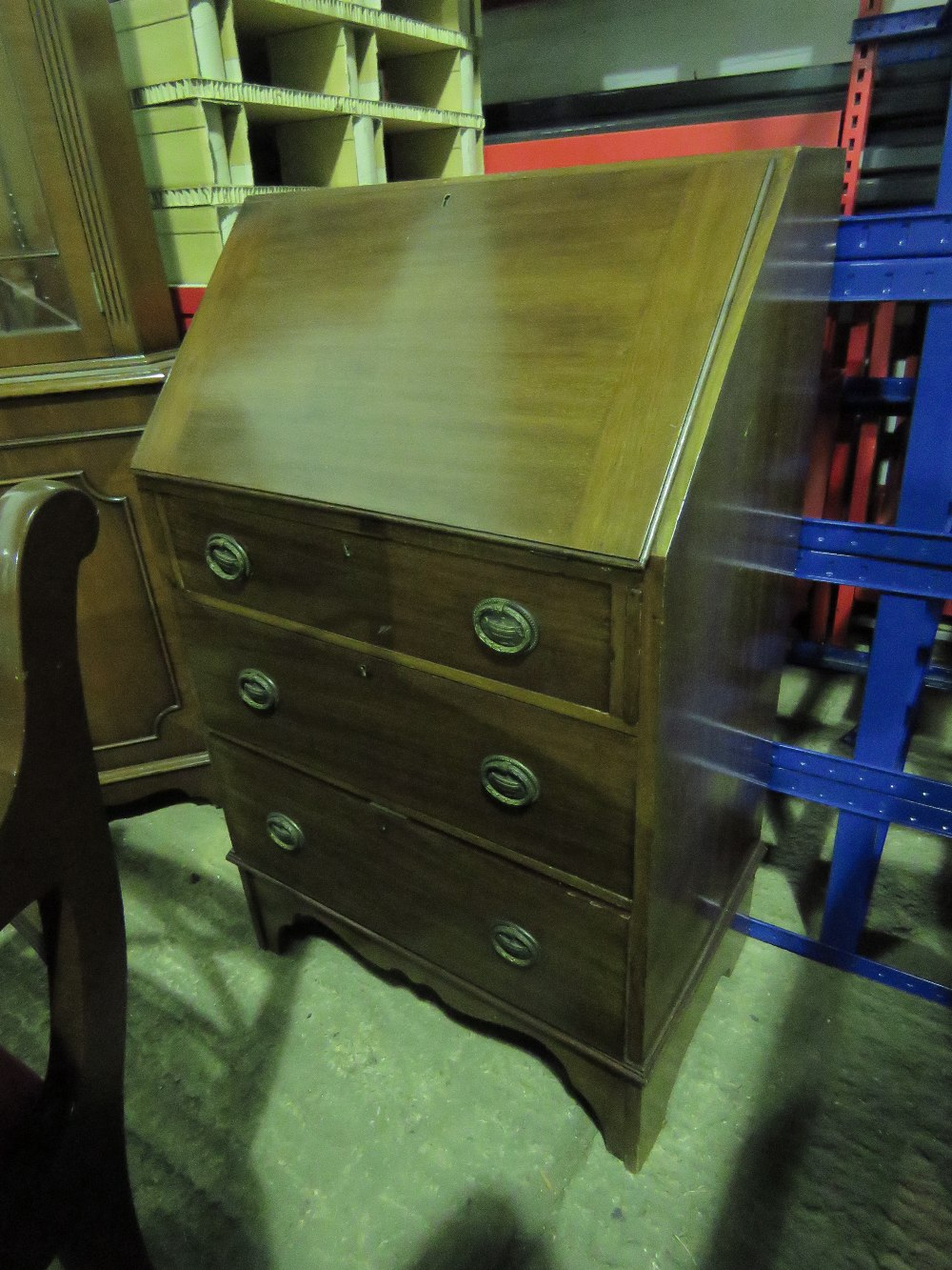 Lot 782 - A reproduction D ended Georgian style si