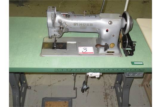 40 SINGER MOD 404040G4056 SINGLE NEEDLE LOCKSTITCH WALKING FOOT SEWING Interesting Singer Walking Foot Industrial Sewing Machine
