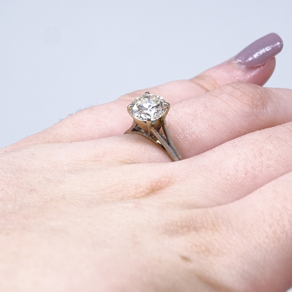 A 14ct white gold 1.6ct solitaire diamond ring, high 4-claw setting, diamond weighs approx 1.6ct, - Image 8 of 8