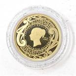 The 2019 New Zealand's First Ever 22ct Gold Quarter Sovereign by Hattons of London, reverse