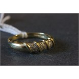 Lot 33 - An 18 carat gold and diamond ring