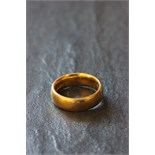 Lot 1 - 22ct Gold wedding band