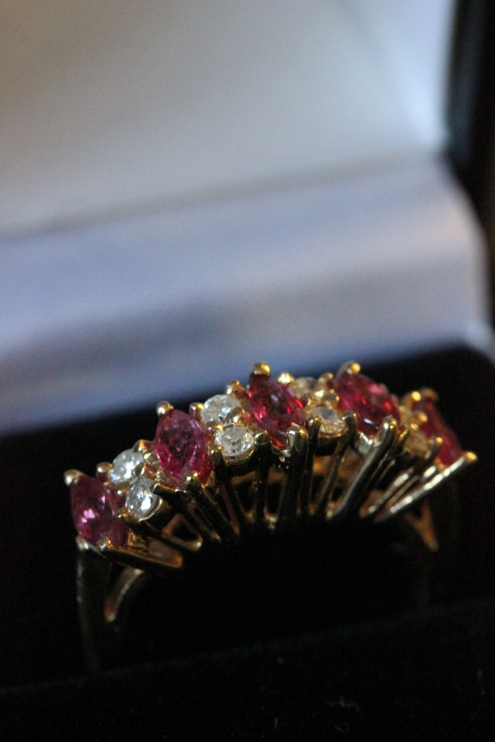 Lot 36 - 14ct Yellow gold ruby and diamond ring 1.5ct's approx