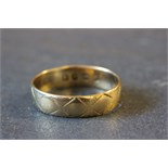Lot 44 - 18ct Gold wedding band