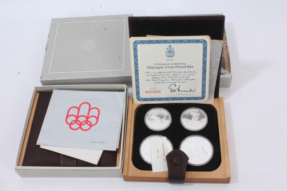 Lot 36 - Canada - Olympic Silver Proof Four-Coin Sets - 1976 (x 4) (N.B.