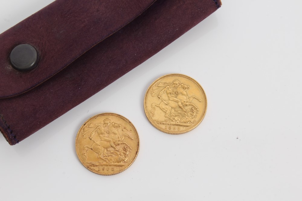 Lot 44 - G.B. gold Sovereigns Victoria O.H. 1893.