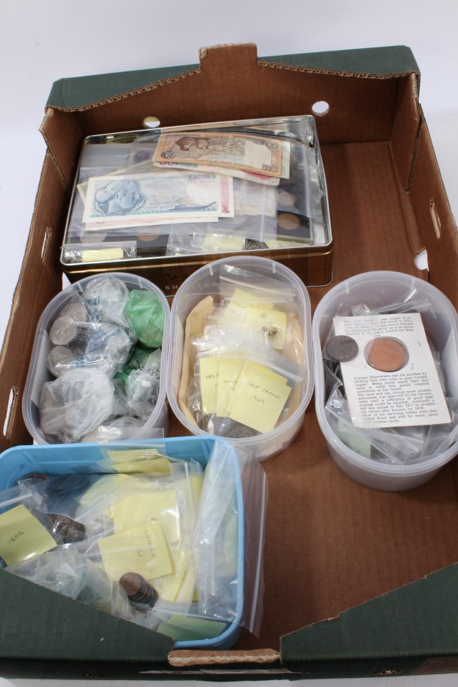 Lot 57 - World - mixed coinage and banknotes - to include Greece copper 10 Lepta. VG, G.B.