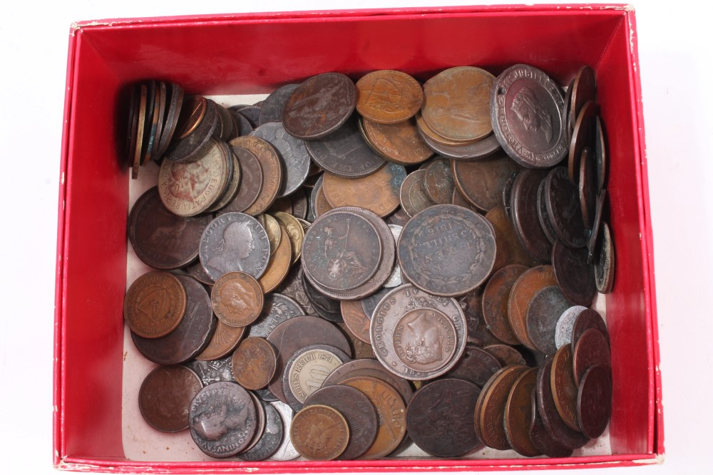 Lot 47 - World - mixed coinage - predominantly copper and bronze issues - to include some 18th - 19th