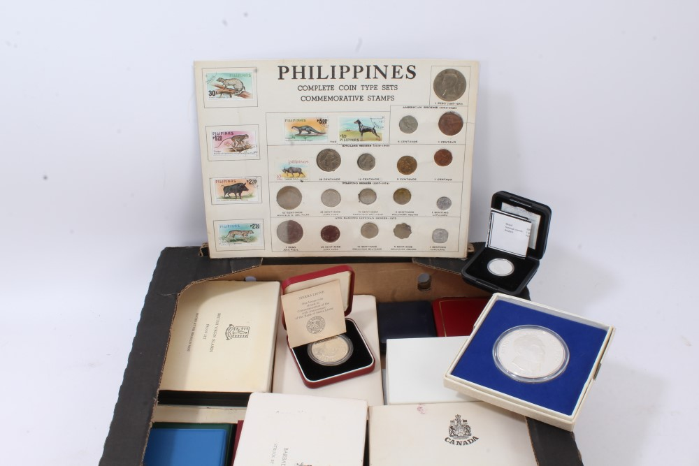 Lot 35 - World - mixed Proof and uncirculated Coin Sets - many with silver - to include United States,