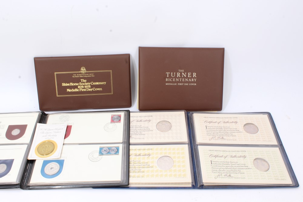 Lot 54 - World - silver medallic First Day Covers - to include Great Britons Set (x 4),