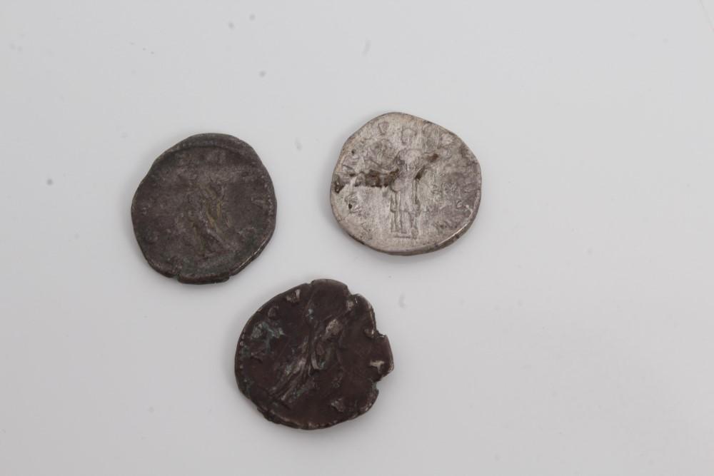 Lot 8 - Ancients - Roman silver Denarius - to include Faustina Senior c. 141 AD, Hadrian c.
