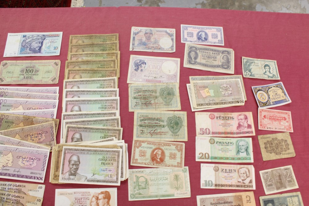 Lot 13 - World - mixed banknotes - to include issues from Fiji, France, Germany, Guinea, Italy, Malta,