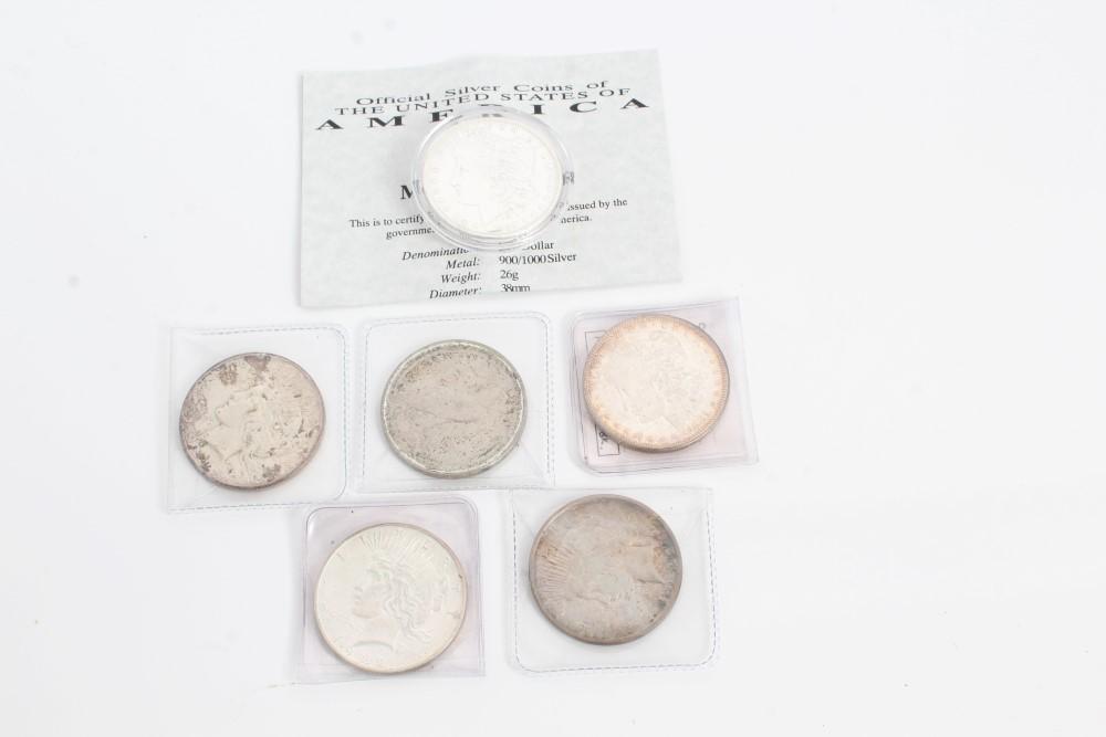 Lot 30 - U.S. silver Dollars - Morgan 1881S. UNC, 1889. GEF, Liberty 1922. AEF, 1922D. VF and 1923.