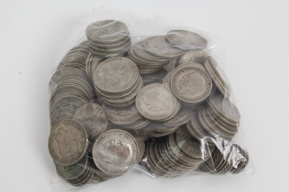 Lot 11 - G.B. mixed pre-1947 silver coinage (face value £15.