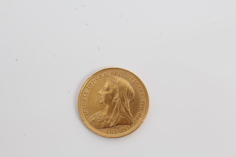Lot 56 - G.B. gold Sovereign Victoria O.H. 1896S. VF (1 coin) (N.B.
