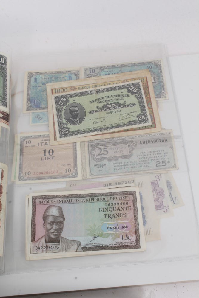 Lot 12 - World - mixed banknotes - to include mid-20th century issues from Morocco, Algeria, Mali, Guinea,