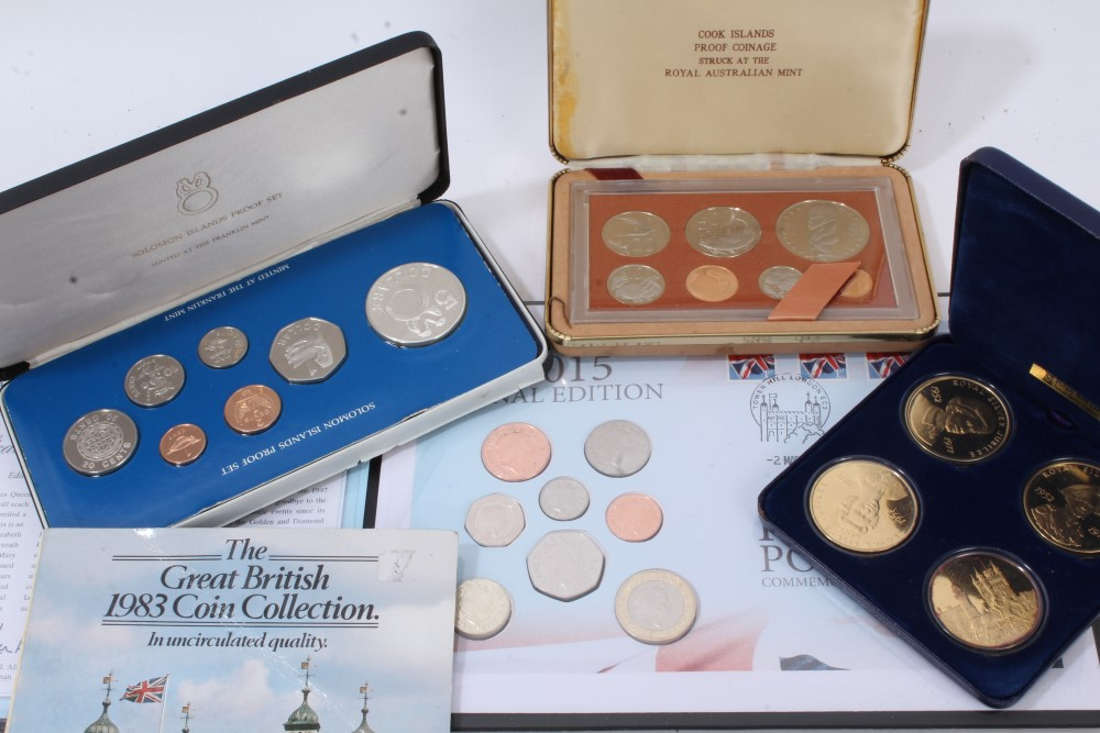 Lot 51 - World - mixed coinage - to include Proof cased sets - Solomon Islands 1978, Cook Islands 1978,