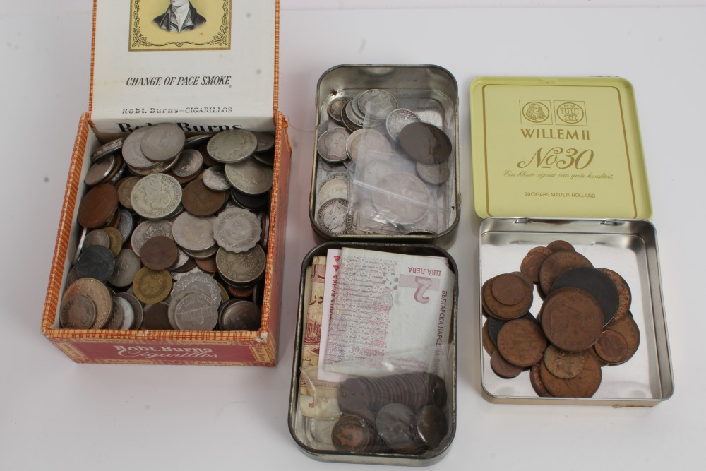 Lot 28 - World - mixed coinage - to include G.B. pre-1920 silver, George VI 1950 bronze Penny.