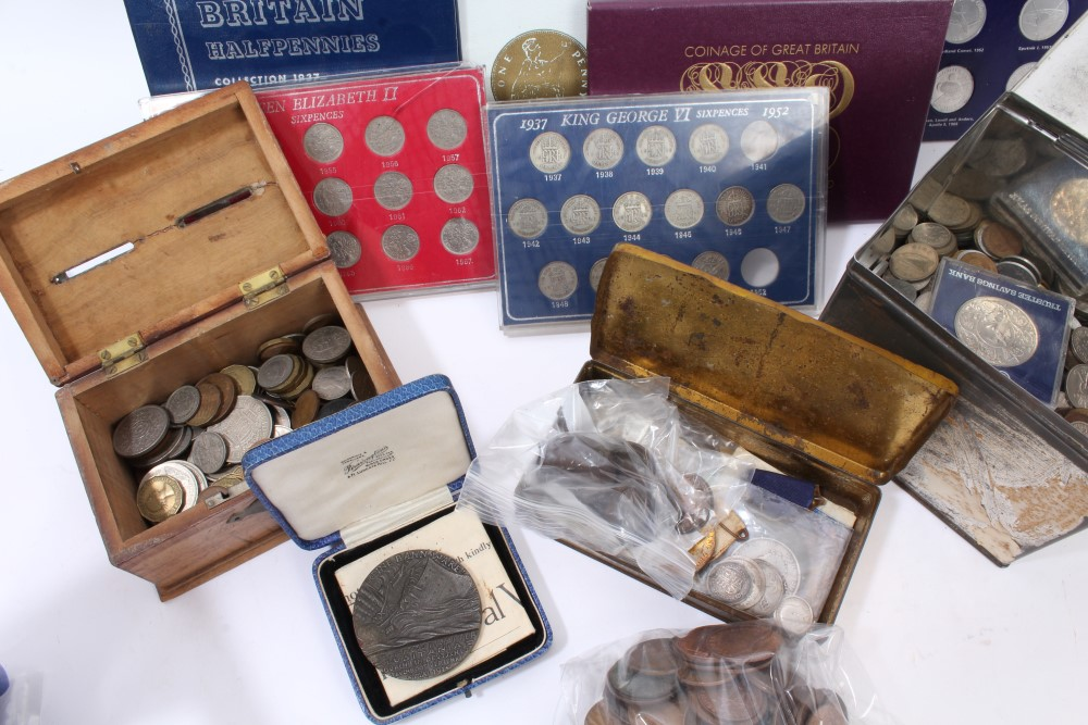 Lot 41 - World - mixed coinage - to include George IV Half Crown 1826.