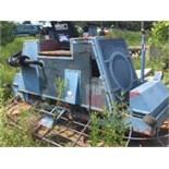 Allen engineering dual concrete trowel machine. As is. Parts, 11'x5' overall measurements.