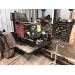 "Lincoln Electric ""Ranger 8"" AC/DC welder (#9974-U1940918921) w/ Kohler OHV gas motor on single axle"