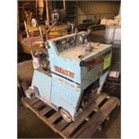 Target Pro 35 III walk behind concrete saw, 514 hours listed, Wisconsin gas powered.