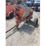 Whiteman MQ concrete mortar mixer. Honda 8hp motor. Needs tires. Runs.