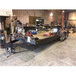 20.5 Long x 6.5 Wide, (18' flat + 2.5' dove tail) tandem axle equipment trailer, fenders a little...