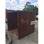 6' x 6' x 6' man hole box. No certificates. As is. Has 4 openings. 1 per side.