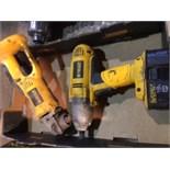 """Dewalt 18v cordless Grinder and 1/2"""" impact. 1 battery"""