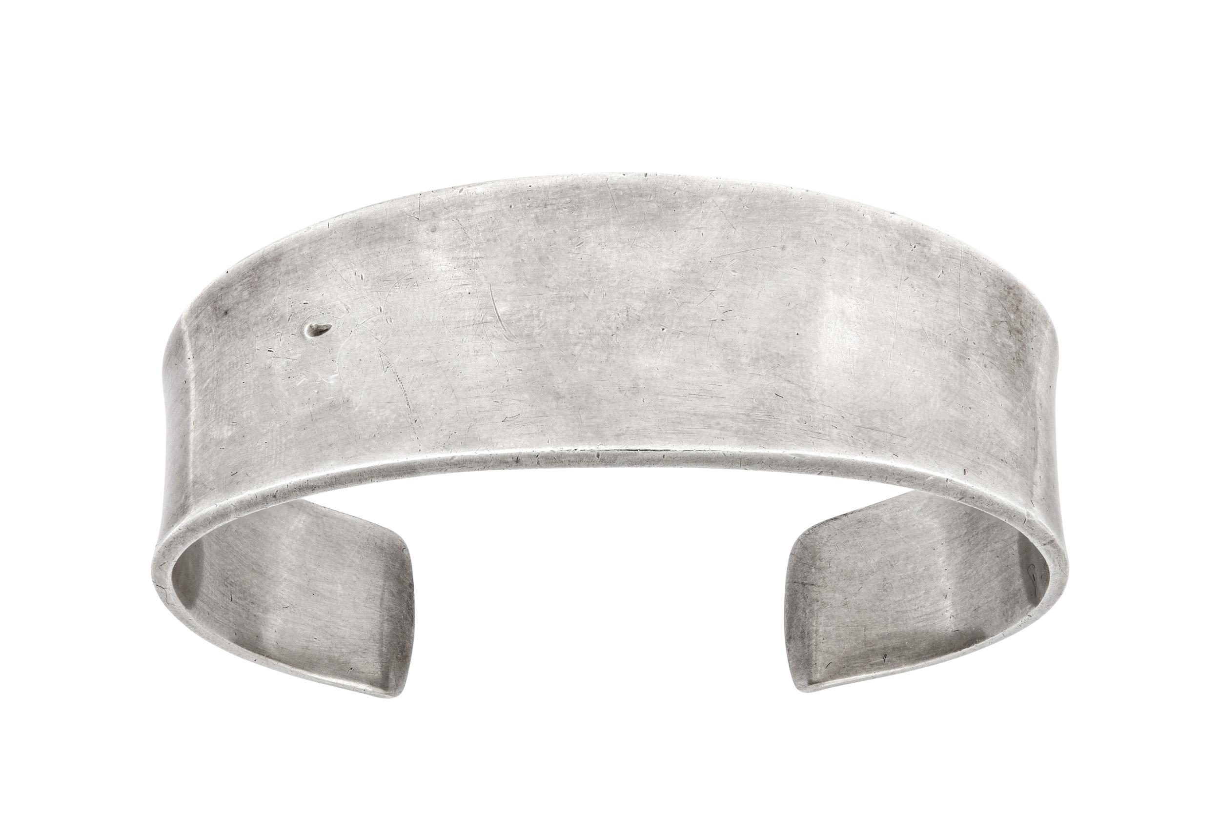 Lot 53 - A silver cuff, by Poul Hansen for Georg Jensen