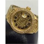 DIAMOND SET LADIES GOLD ROLEX WATCH