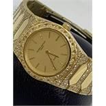 IMPRESSIVE 18ct GOLD VACHERON CONSTANTIN DIAMOND SET WATCH