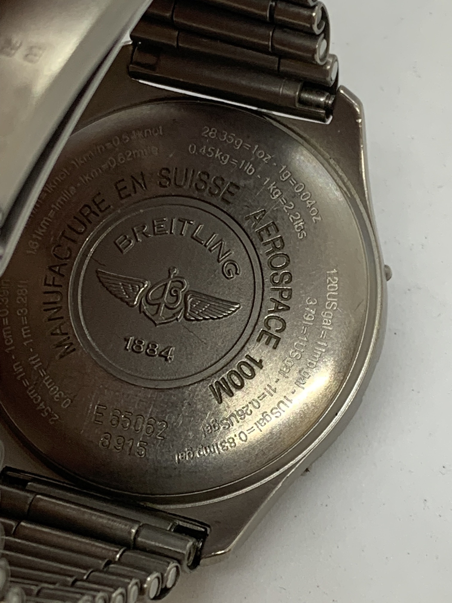 BREITLING TITANIUM WATCH A/F - Image 9 of 15