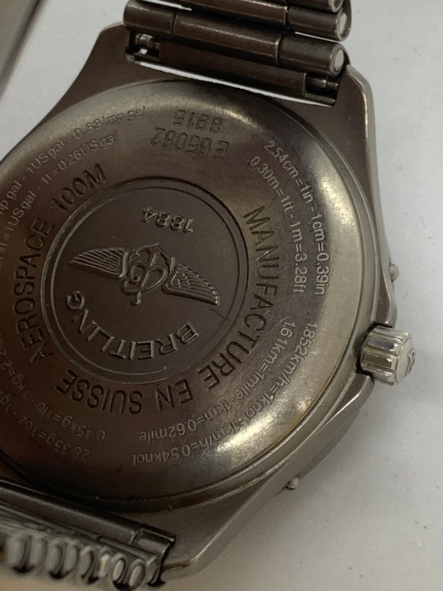 BREITLING TITANIUM WATCH A/F - Image 11 of 15