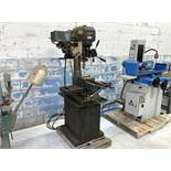 """Jet Mdl. JMD-18 Vertical Milling / Drilling Machine, 18"""" Swing, 9"""" x 32"""" T-Slot Table (NOTE: Vise is"""