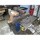 """Bench Vise, 6"""" Jaw, Pedestal Mounted (All Items MUST be Removed by Thursday, December 19, 2019."""