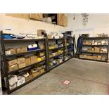 Contents of Shelving in Electrical and Plumbing Storage Area including Disconnects, Pipe Fittings,