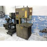 """Grob Vertical Band Saw, Metal Cutting Type, 17-1/2"""" Throat, 24"""" x 24"""" Tilting Table (NOTE: Blade"""