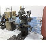 "Bridgeport 2Hp Vertical Milling Machine, Knee Type, Chrome Ways, 120 to 4200 RPM, 9"" x 48"" T-Slot"