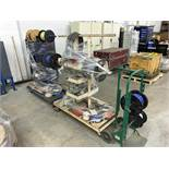 Lot with (3) Wire / Cable Spool Carts with Contents (All Items MUST be Removed by Thursday, December
