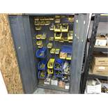 Metal 2-Door Storage Cabinet with Contents of Pipe Fittings and Supplies (All Items MUST be