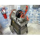 Ridgid Mdl. 1822-1 Pipe and Bolt Threading Machine with Cutter, Reamer, Die Head and Chip Pan (All