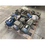 Skid with Various Motors, Drives and Gear Reducers (All Items MUST be Removed by Thursday,