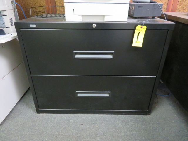 """2-DR 36"""" BLACK LATERAL FILE"""